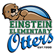 "Einstein logo: otter on top of the words ""Einstein Elementary Otters"""